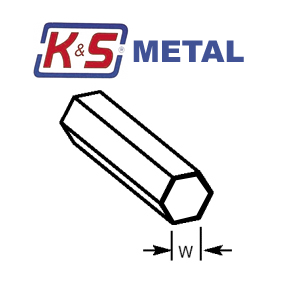 KS Brass Hexagonal Tube