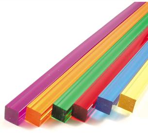 Transparent Square Rods