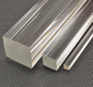 Square rectangular tubes acrylic plastic shapes for Square narrow shape acrylic