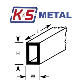 KS Brass Rectangular Tubing